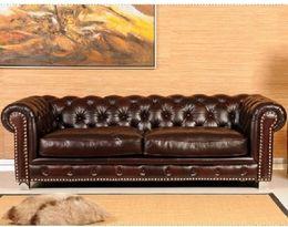 5542 stylová kožená sedací souprava CHESTERFIELD