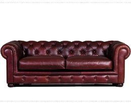 5541 stylová kožená sedací souprava - CHESTERFIELD