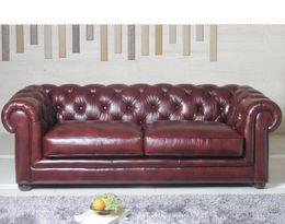 5539 stylová kožená sedací souprava - CHESTERFIELD