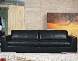 5171 moderní minimalistická kožená sedací souprava