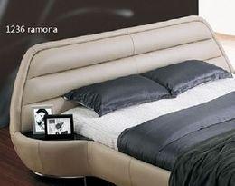 1236 luxusní designová kožená postel