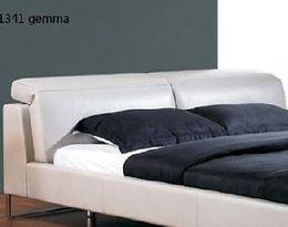 1341 luxusní kožená postel s výklopnými opěrkami zad
