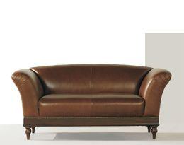 2096 retro kožená sedací souprava