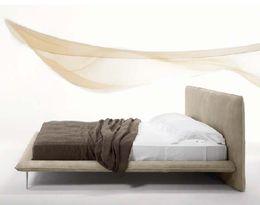 Designová kožená postel ALFRED