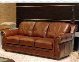 3042 stylová kožená sedací souprava